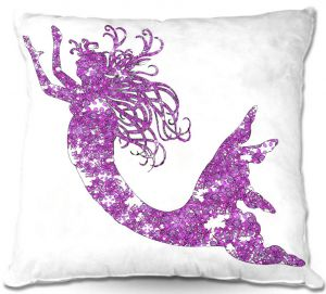 Decorative Outdoor Patio Pillow Cushion | Susie Kunzelman - Mermaid Purple