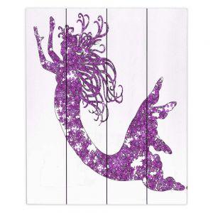 Decorative Wood Plank Wall Art | Susie Kunzelman Mermaid Purple