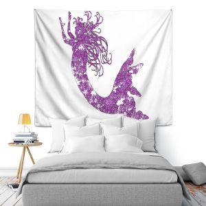 Artistic Wall Tapestry | Susie Kunzelman Mermaid Purple