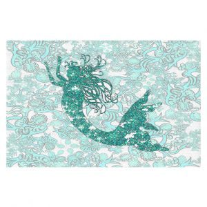 Decorative Floor Coverings | Susie Kunzelman - Mermaid Ribbons Aquamarine