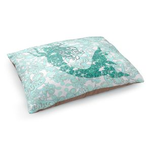 Decorative Dog Pet Beds | Susie Kunzelman - Mermaid Ribbons Aquamarine