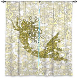Decorative Window Treatments   Susie Kunzelman - Mermaid Ribbons Golden Yellow