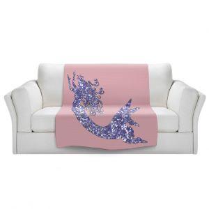 Artistic Sherpa Pile Blankets | Susie Kunzelman - Mermaid Rose Quartz