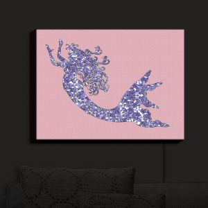 Nightlight Sconce Canvas Light | Susie Kunzelman - Mermaid Rose Quartz | Fantasty Childlike Whimsical