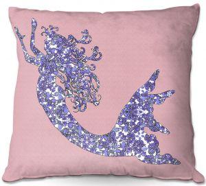 Throw Pillows Decorative Artistic | Susie Kunzelman - Mermaid Rose Quartz