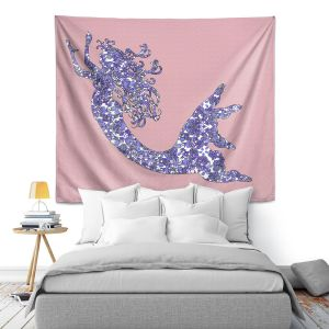 Artistic Wall Tapestry | Susie Kunzelman - Mermaid Rose Quartz