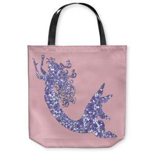 Unique Shoulder Bag Tote Bags | Susie Kunzelman - Mermaid Rose Quartz