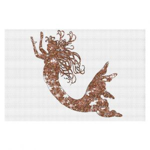 Decorative Floor Coverings | Susie Kunzelman Mermaid Salmon