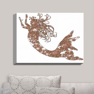 Decorative Canvas Wall Art | Susie Kunzelman - Mermaid Salmon