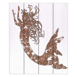 Decorative Wood Plank Wall Art | Susie Kunzelman Mermaid Salmon
