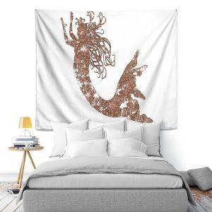 Artistic Wall Tapestry | Susie Kunzelman Mermaid Salmon