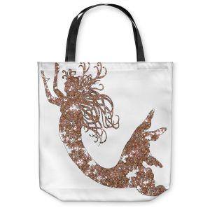 Unique Shoulder Bag Tote Bags | Susie Kunzelman Mermaid Salmon