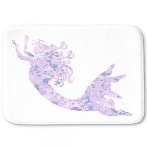 Decorative Bathroom Mats | Susie Kunzelman - Mermaid White Serenity