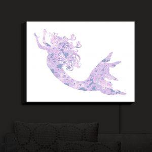 Nightlight Sconce Canvas Light | Susie Kunzelman - Mermaid White Serenity | Fantasty Childlike Whimsical