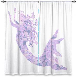 Decorative Window Treatments | Susie Kunzelman - Mermaid White Serenity