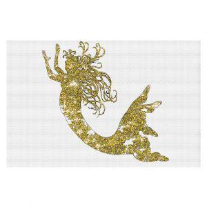 Decorative Floor Coverings | Susie Kunzelman Mermaid Yellow