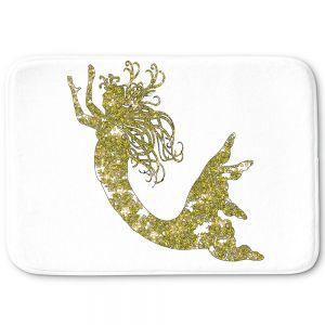 Decorative Bathroom Mats | Susie Kunzelman - Mermaid Yellow