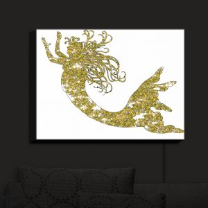Nightlight Sconce Canvas Light | Susie Kunzelman - Mermaid Yellow | Mermaids Fantasy Magical Childlike