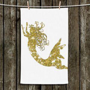 Unique Bathroom Towels | Susie Kunzelman - Mermaid Yellow