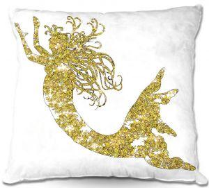 Throw Pillows Decorative Artistic | Susie Kunzelman's Mermaid Yellow