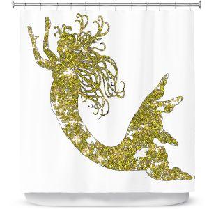 Premium Shower Curtains | Susie Kunzelman Mermaid Yellow