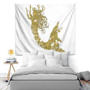 Artistic Wall Tapestry | Susie Kunzelman Mermaid Yellow