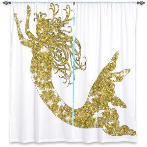 Decorative Window Treatments | Susie Kunzelman Mermaid Yellow