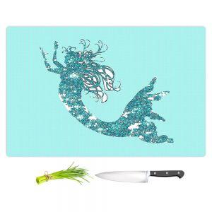 Artistic Kitchen Bar Cutting Boards | Susie Kunzelman - Mermaid II Aqua