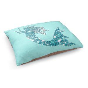 Decorative Dog Pet Beds | Susie Kunzelman - Mermaid II Aqua