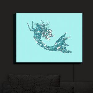 Nightlight Sconce Canvas Light   Susie Kunzelman - Mermaid II Aqua   Mermaids Fantasy Magical Childlike