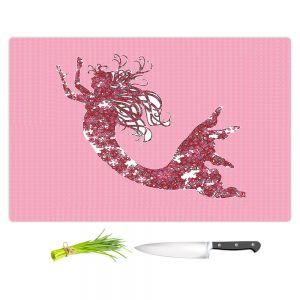 Artistic Kitchen Bar Cutting Boards | Susie Kunzelman - Mermaid II Dark Pink