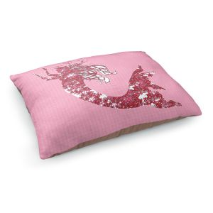 Decorative Dog Pet Beds | Susie Kunzelman - Mermaid II Dark Pink