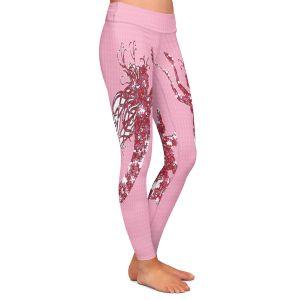 Casual Comfortable Leggings | Susie Kunzelman - Mermaid II Dark Pink