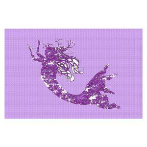 Decorative Floor Coverings | Susie Kunzelman - Mermaid II Purple