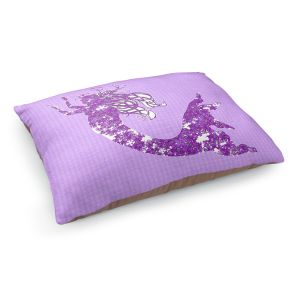 Decorative Dog Pet Beds | Susie Kunzelman - Mermaid II Purple