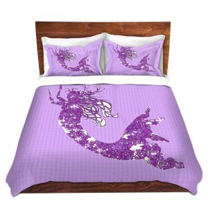 Artistic Duvet Covers and Shams Bedding | Susie Kunzelman - Mermaid II Purple