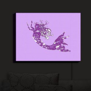 Nightlight Sconce Canvas Light | Susie Kunzelman - Mermaid II Purple | Mermaids Fantasy Magical Childlike