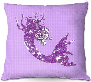 Throw Pillows Decorative Artistic | Susie Kunzelman - Mermaid II Purple