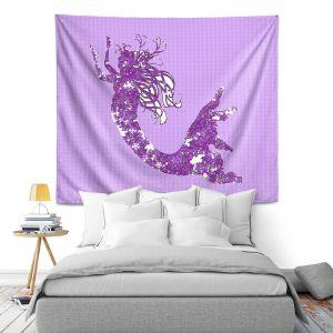 Artistic Wall Tapestry | Susie Kunzelman - Mermaid II Purple