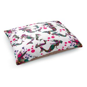 Decorative Dog Pet Beds | Susie Kunzelman - Mermaid 3 Pinks | water ocean pattern repetition