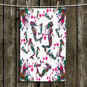 Unique Hanging Tea Towels | Susie Kunzelman - Mermaid 3 Pinks | water ocean pattern repetition