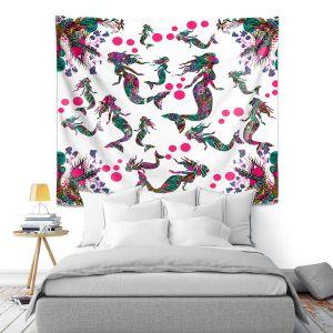 Artistic Wall Tapestry | Susie Kunzelman - Mermaid 3 Pinks | water ocean pattern repetition