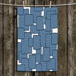 Unique Bathroom Towels | Susie Kunzelman - Mid Century Modern H2O | Square rectangle pattern abstract