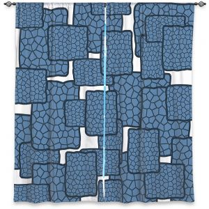 Decorative Window Treatments | Susie Kunzelman - Mid Century Modern H2O | Square rectangle pattern abstract