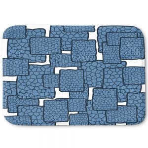 Decorative Bathroom Mats | Susie Kunzelman - Mid Century Modern H2O | Square rectangle pattern abstract
