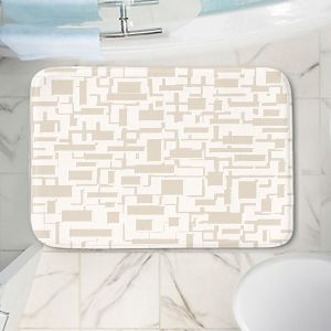 Decorative Bathroom Mats | Susie Kunzelman - Mid Century Cubed Simple | Square rectangle pattern abstract