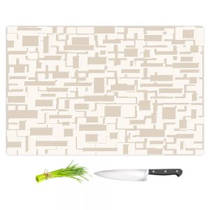 Artistic Kitchen Bar Cutting Boards | Susie Kunzelman - Mid Century Cubed Simple | Square rectangle pattern abstract