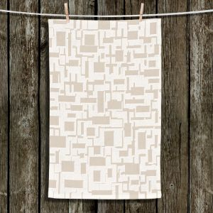 Unique Hanging Tea Towels | Susie Kunzelman - Mid Century Cubed Simple | Square rectangle pattern abstract