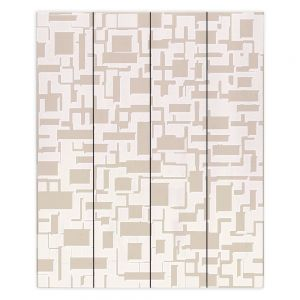 Decorative Wood Plank Wall Art | Susie Kunzelman - Mid Century Cubed Simple | Square rectangle pattern abstract