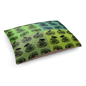 Decorative Dog Pet Beds | Susie Kunzelman - Mod Fruit Squares Greens 3 | Pattern repetition pop art
